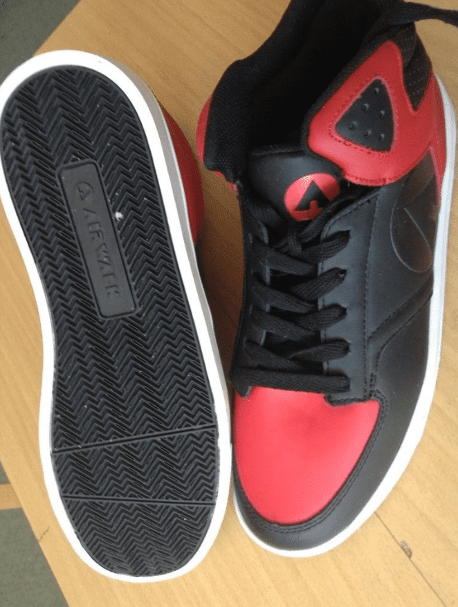 Black and red Air walk skate shoes