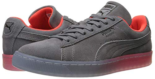 red and gray PUMA Suede Classic Leather Formstrip Sneaker
