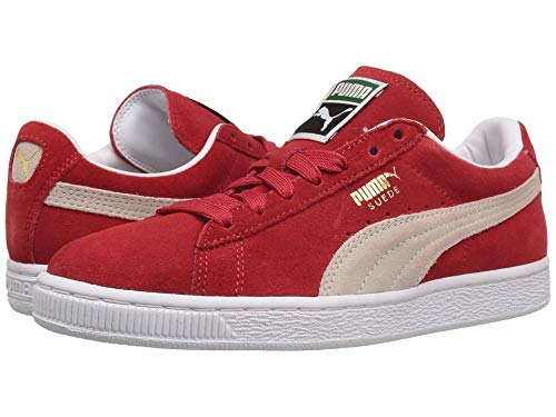 red PUMA Suede Classic Leather Formstrip Sneaker