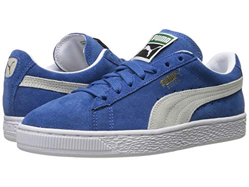 blue PUMA Suede Classic Leather Formstrip Sneaker