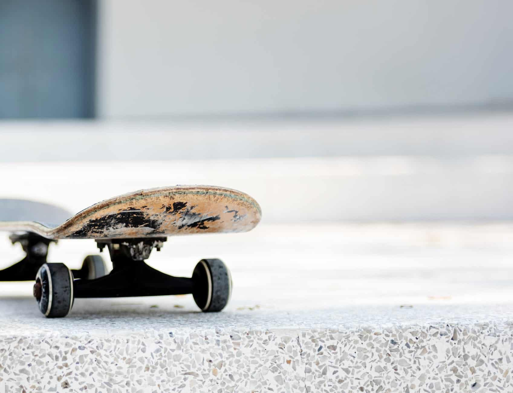revive skateboard with black wheels in the road