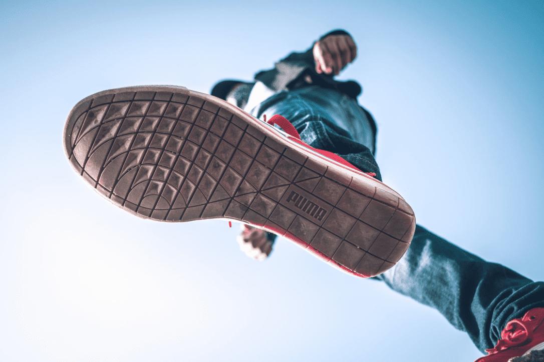 bottom view of puma skate shoes