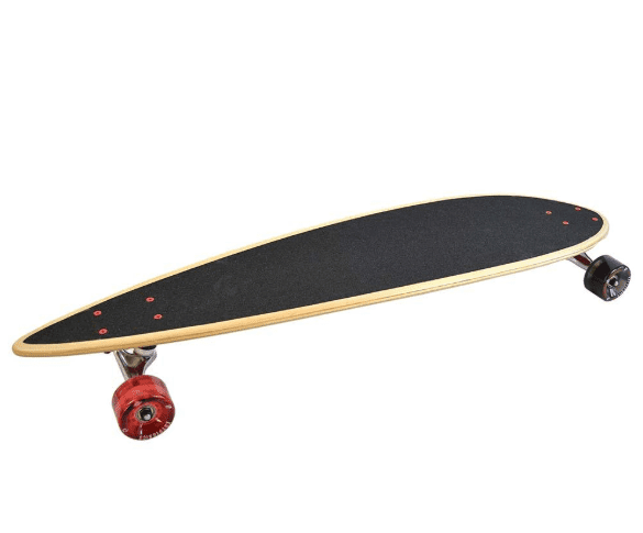 pintail lonmgboard with red and black wheels