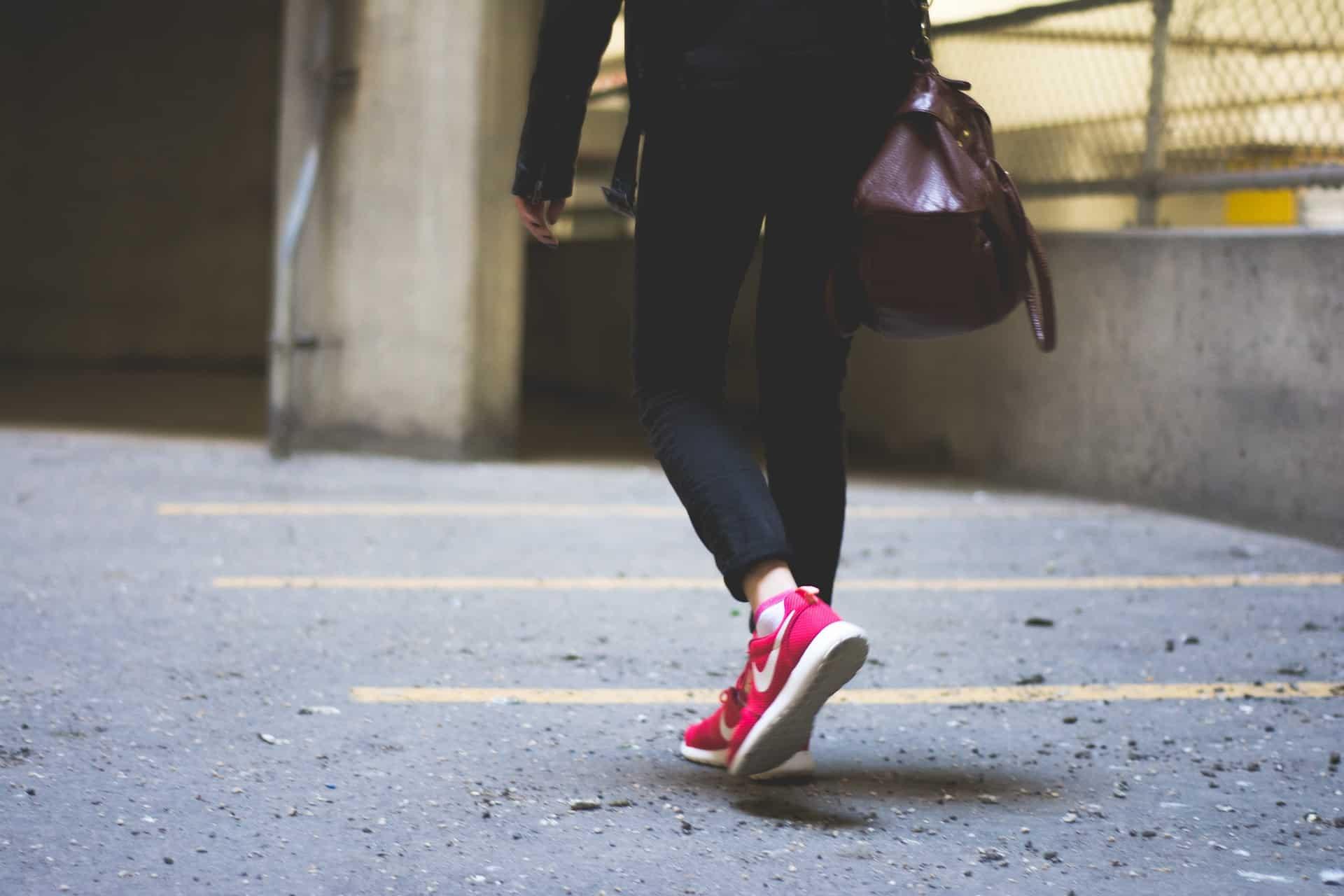 Women wearing nike sneakers
